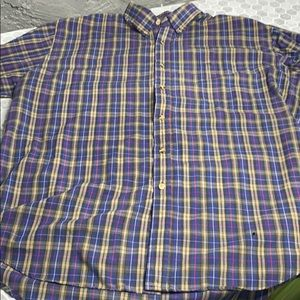 McGregors Plaid Short Sleeve Button Up Top